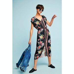 ANTHROPOLOGIE DRA Sanne Midi Dress Floral L.A.